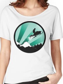snowmobile : powder trail Women's Relaxed Fit T-Shirt