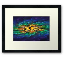 'Light Flame Abstract 163' Framed Print