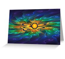 'Light Flame Abstract 163' Greeting Card