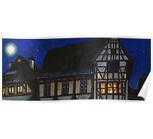 Germany Ulm Fishermen's Quarter Moon Roofs Poster
