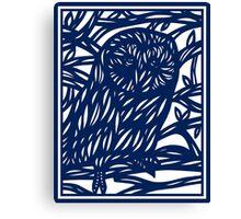 Lamborne Owl Blue White Canvas Print