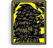 Luptak Bird Yellow Black Canvas Print