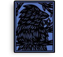 Keilholz Bird Blue Black Canvas Print