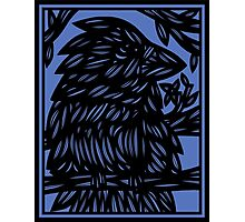 Keilholz Bird Blue Black Photographic Print