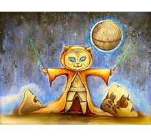 let the force be with you cute star war kitty Photographic Print