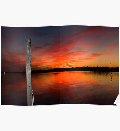Louisiana Coastal Sunset III Poster