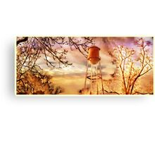 Small Town Sunday Morning Canvas Print