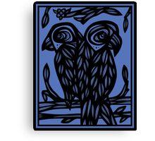 Centeno Parrot Blue Black Canvas Print