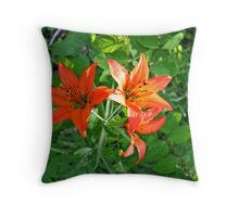 Wood Lily (Tiger Lily) Throw Pillow