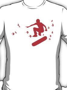 skateboard with birds T-Shirt