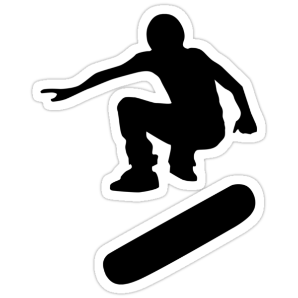 skateboard : silhouettes (SMALL) by asyrum