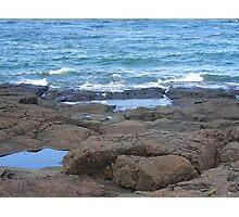 Black Rocks at Presque Isle Photographic Print
