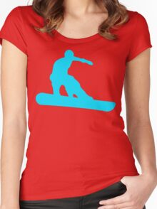 snowboard silhouettes Women's Fitted Scoop T-Shirt