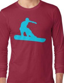 snowboard silhouettes Long Sleeve T-Shirt