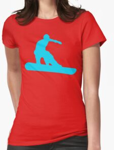 snowboard silhouettes Womens Fitted T-Shirt