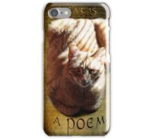 A cat is a poem iPhone Case/Skin