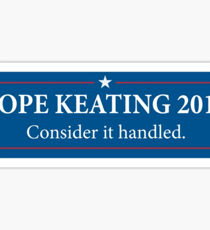 Pope - Keating 2016 / Scandal - Murder Campaign  Sticker