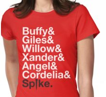 BUFFY THE VAMPIRE SLAYER AND SCOOBY GANG Womens Fitted T-Shirt