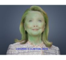 LIZARDS 4 CLINTON 2K16 Sticker