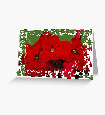 Pointsetta Puzzle Greeting Card