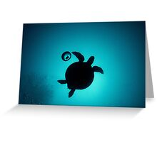 Turtle in a Bubble Greeting Card