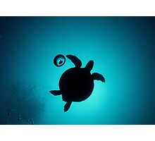 Turtle in a Bubble Photographic Print