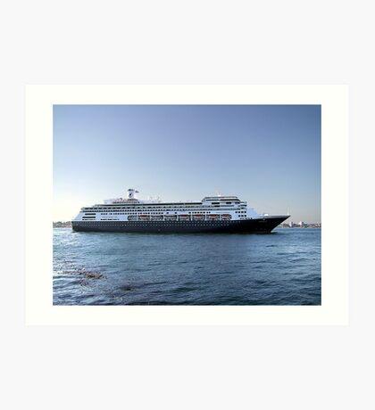 Amsterdam, Cruise Liner Art Print