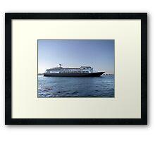 Amsterdam, Cruise Liner Framed Print