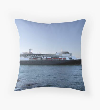 Amsterdam, Cruise Liner Throw Pillow