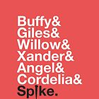 BUFFY THE VAMPIRE SLAYER AND SCOOBY GANG by yellowdogtees