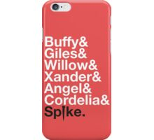 BUFFY THE VAMPIRE SLAYER AND SCOOBY GANG iPhone Case/Skin