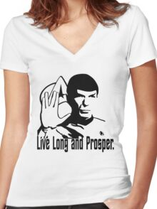 Live Long and Prosper Women's Fitted V-Neck T-Shirt