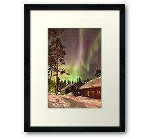 Solar Storm Over Rovaniemi Framed Print