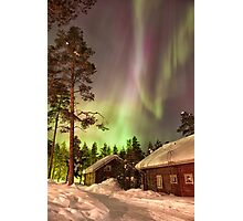 Solar Storm Over Rovaniemi Photographic Print