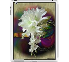 White Satin Blossoms iPad Case/Skin