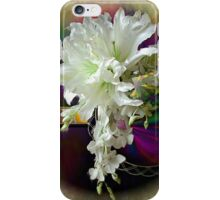 White Satin Blossoms iPhone Case/Skin