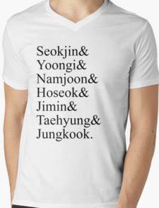BTS Bangtan Boys Member Birth Names T-Shirt