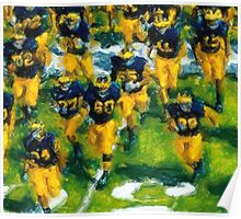 Charge the Fifty Yard Line. Poster