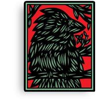 Hartzell Bird Red White Black Canvas Print