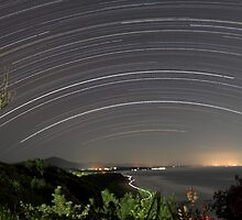 Star Trails Over Coffs Harbour by Mike Salway