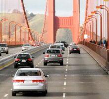 Driving over Golden Gate Bridge Sticker