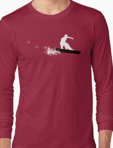 snowboard : powder trail Long Sleeve T-Shirt