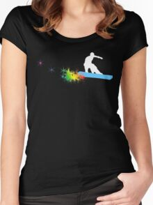 snowboard : powder trail Women's Fitted Scoop T-Shirt