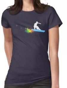 snowboard : powder trail Womens Fitted T-Shirt