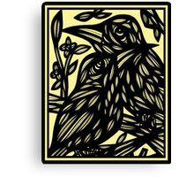 Zellner Bird Green Black Canvas Print