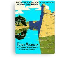 St. Augustine Florida - Historic Castillo de San Marcos Canvas Print