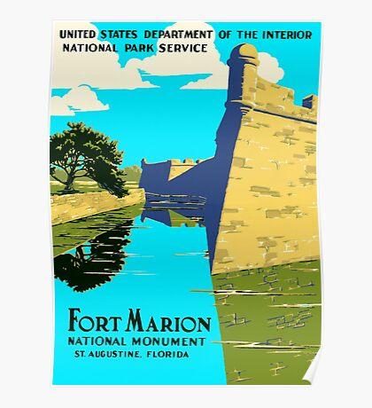 St. Augustine Florida - Historic Castillo de San Marcos Poster
