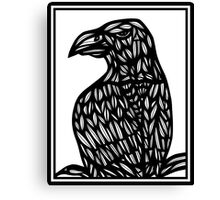 Faivre Eagle Hawk Black and White Canvas Print