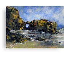 Pearl Beach Arch Laguna Canvas Print