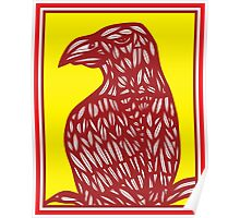 Seegers Eagle Hawk Yellow Red Poster